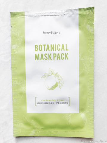 Bonvivant Bontanical Mask Pack Niacinamide + Lime sheet mask
