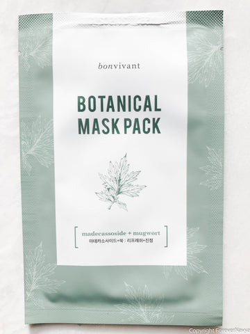 Bonvivant Bontanical Mask Pack Madecassoside + Mugwort Sheet Mask