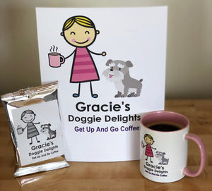 Gracie's Get Up And Go Coffee and Mugs