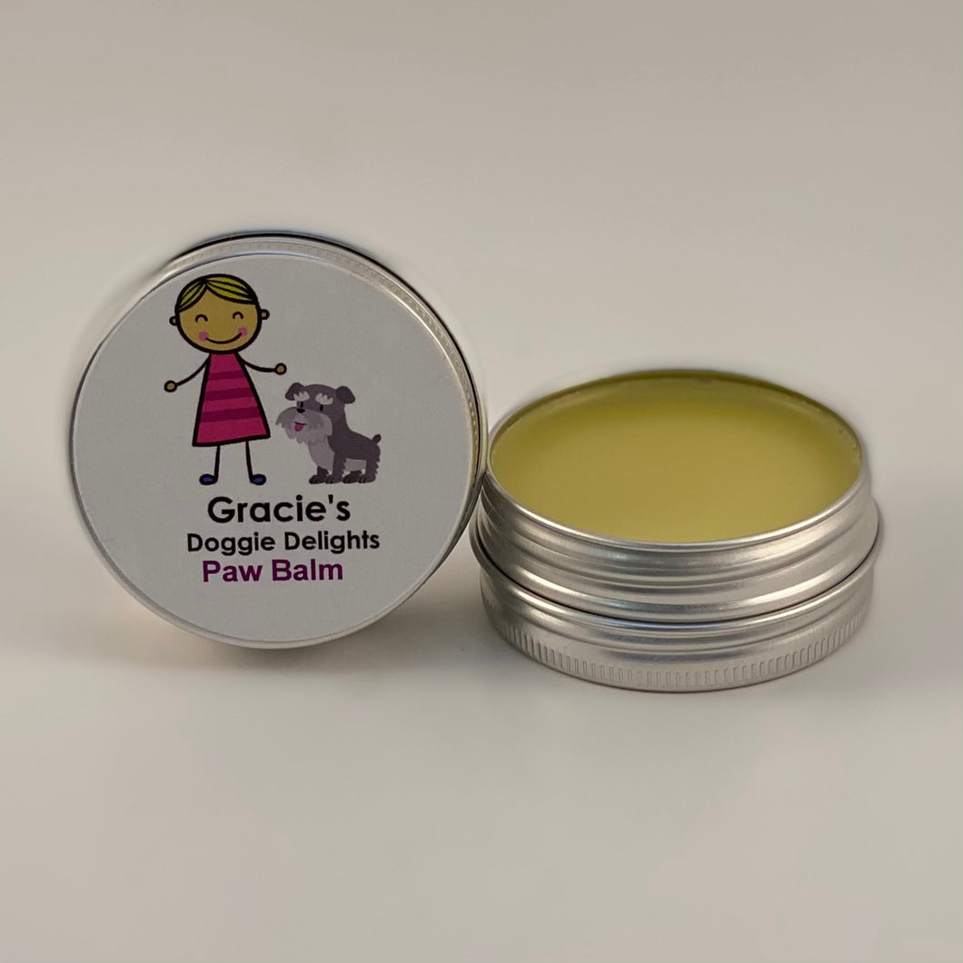 Gracie's Doggie Delights Paw Balm 1oz Tin