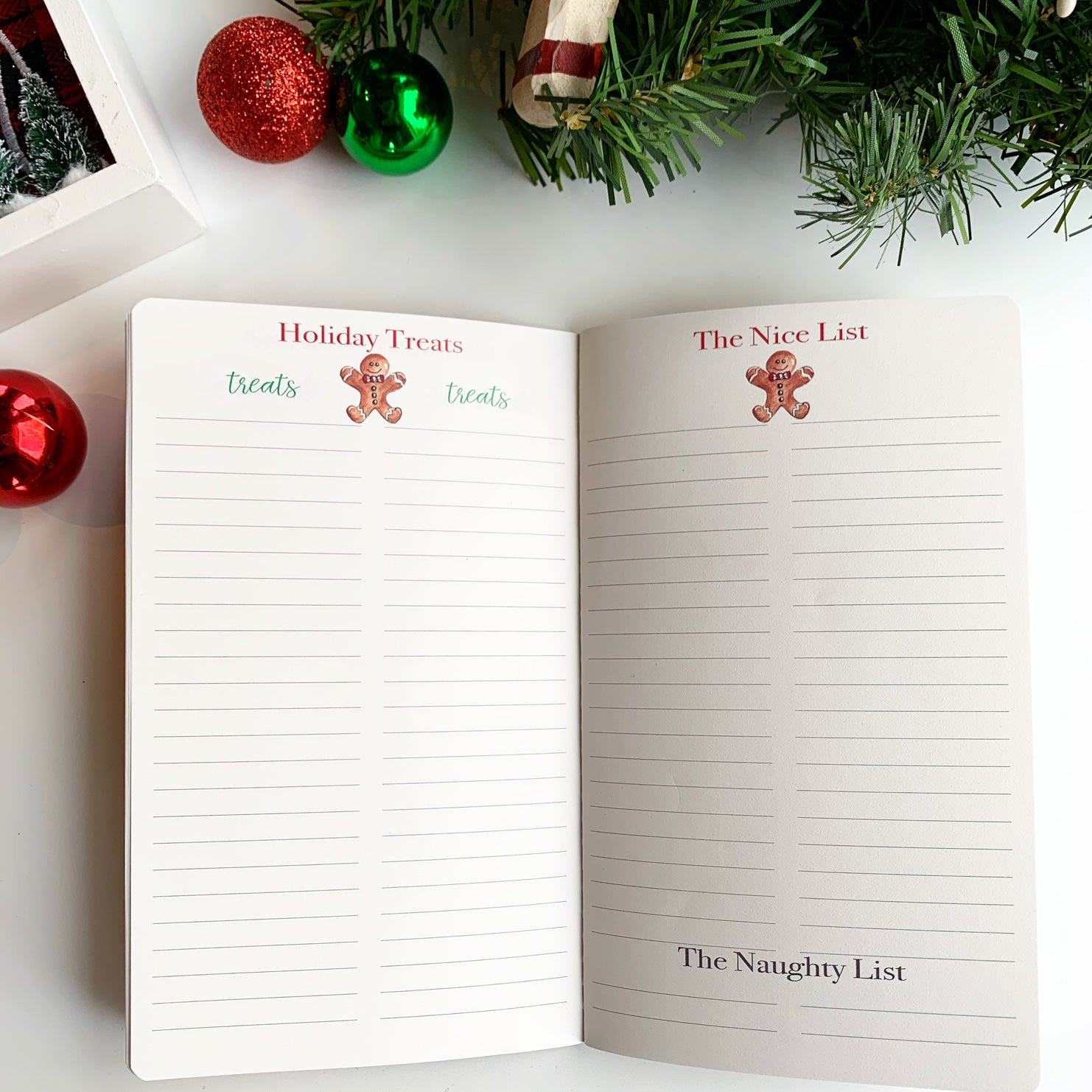 Christmas Planner Holiday Treats & Nice List Pages