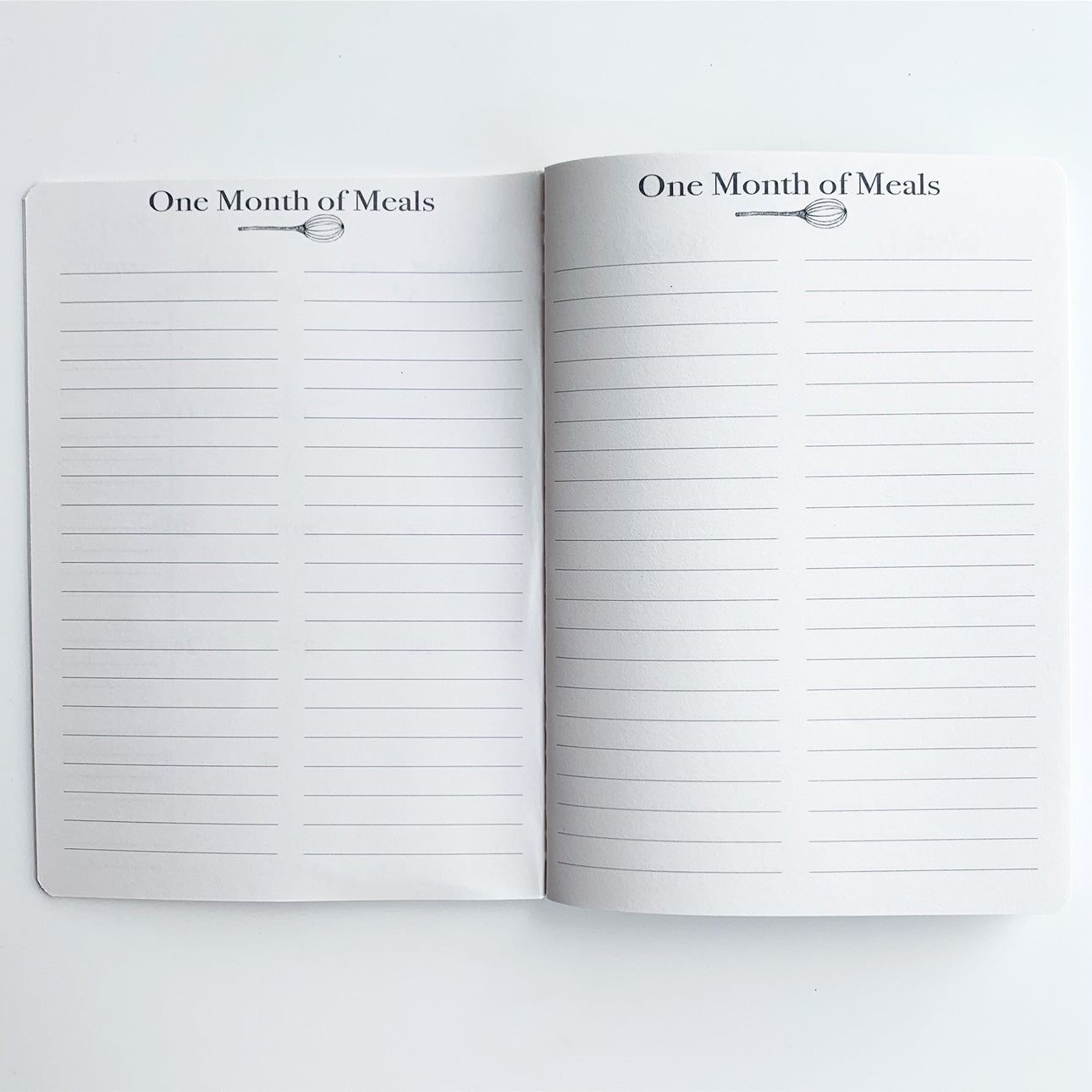 Month of Meals Menu Planning Pages