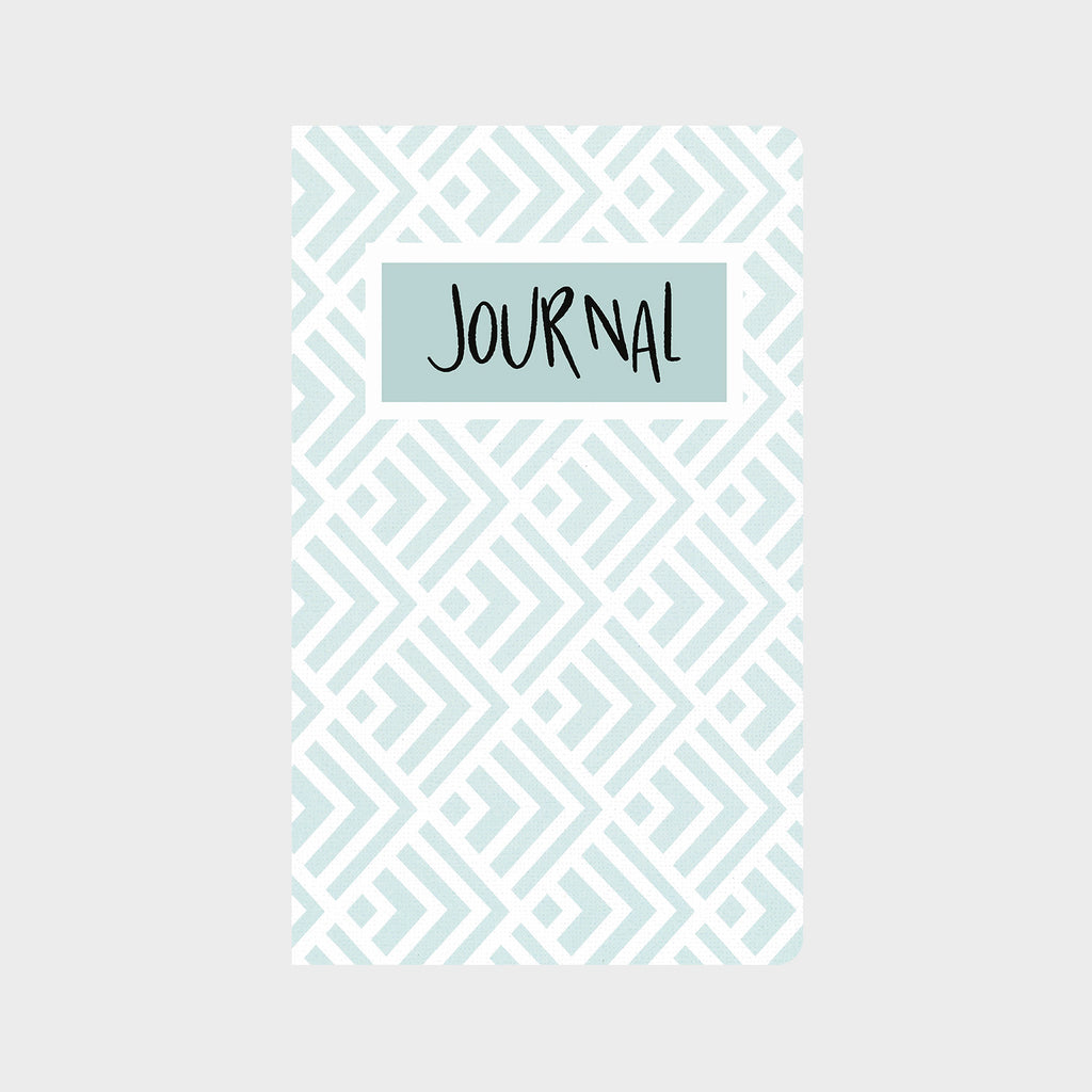 Baby Blue Geo Beauty Journal
