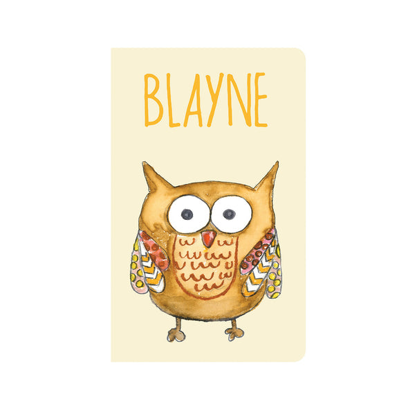 Blayne the Owl Journal