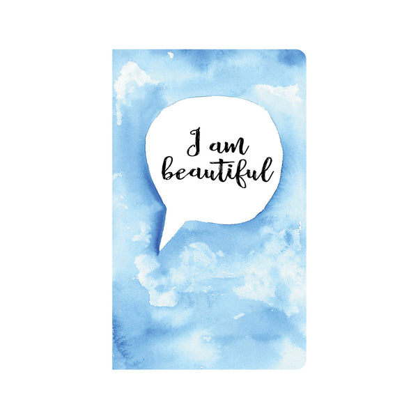 Blue Water Color Affirmations Journal