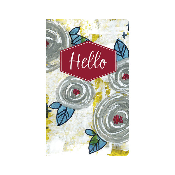 Grey & Blue Floral Journal