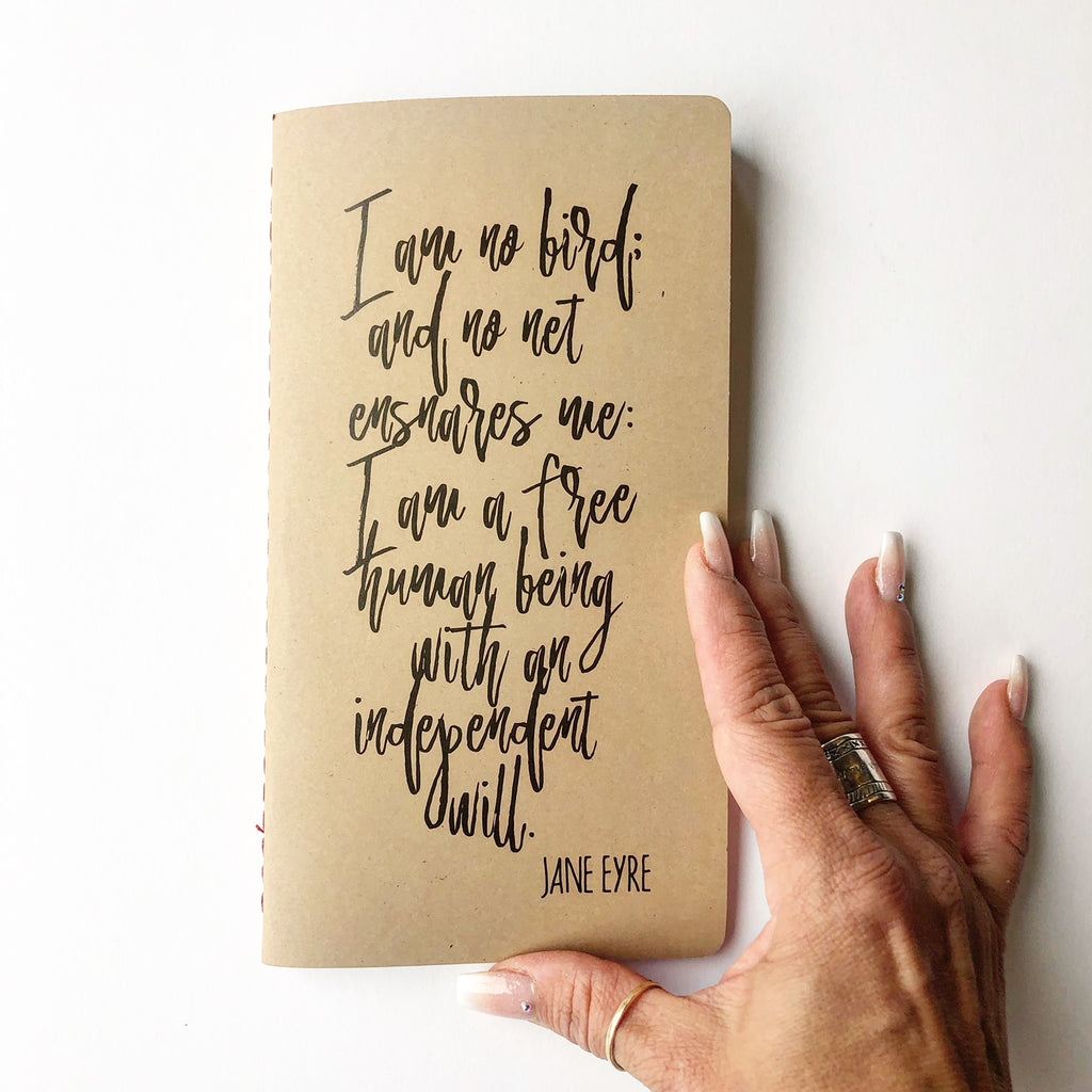 rustic text journals