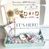 Planner Perfect Monthly Journal Subscription Box