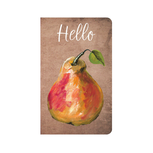 Pear on Brown Canvas Journal