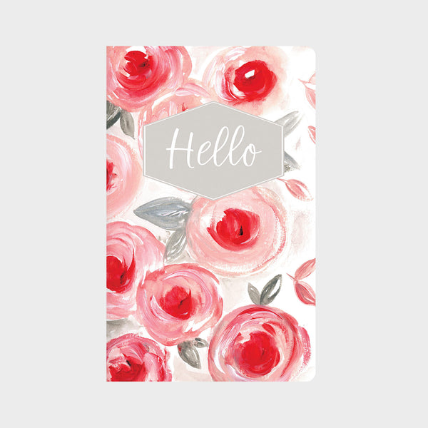 Pink & Grey Floral in Acrylic Journal