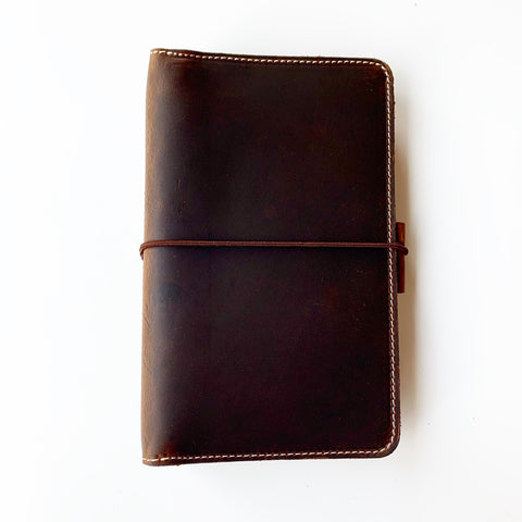 The Quinn Everyday Organized Leather Traveler's Notebook