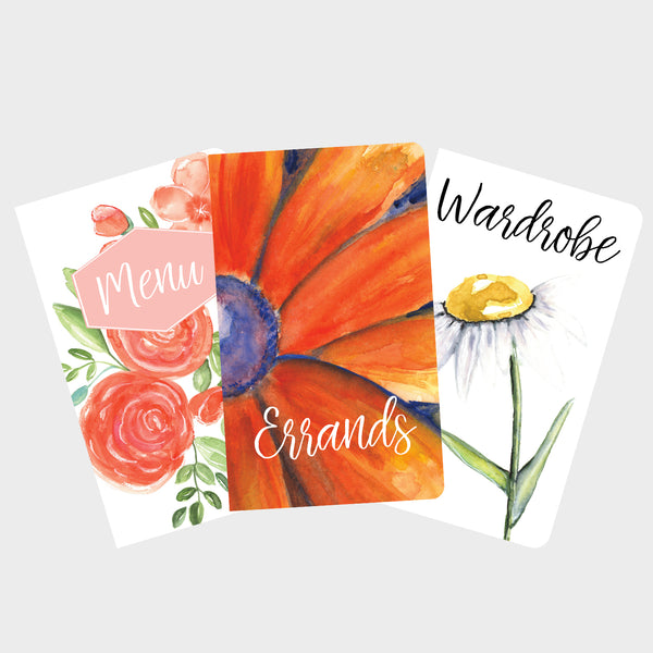 Red Floral Errand Runner Journal Set