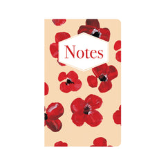 Red Poppies in Acrylic on Beige Journal