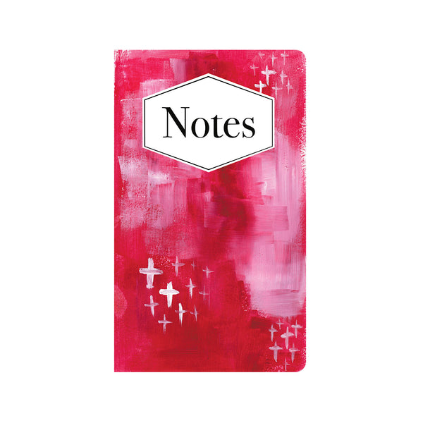 Red & White Abstract Art Journal