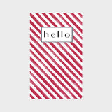 Red & White Stripe Journal