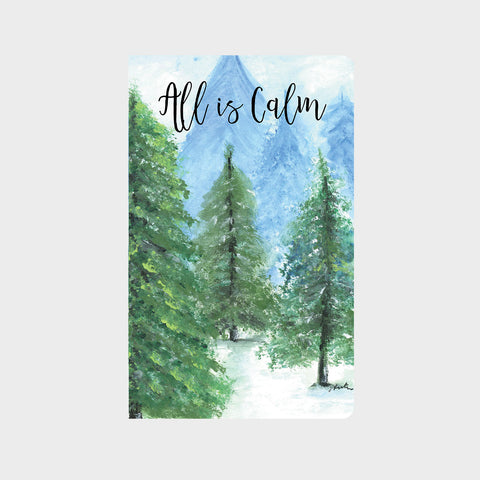Snowy Pine Forest Journal