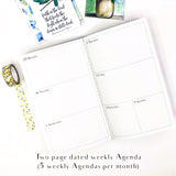 Red Vase Floral Monthly Planner