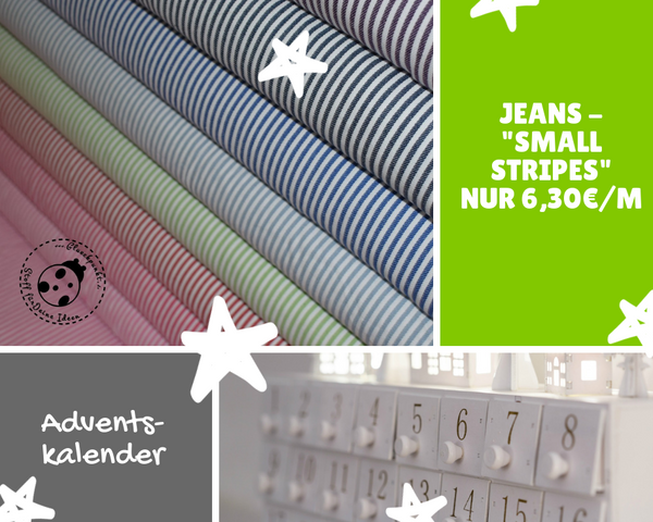 "🎄 ADVENTSKALENDER - Türchen Nr. 5 - Jeans ""Small Stripes""🎄"