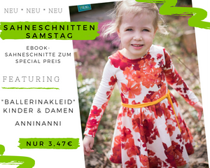 eBook - kleine Ballerinakleid - Kleid - Ballerina-Kleid - Kinder - Nähen - Schnittmuster Mädchen - Anni Nanni - French Terry/Sweat - Bright Anchor - Anker - Glitzer - Kordel