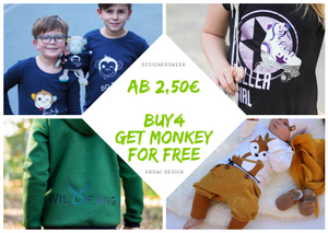 ⭐ Designersweek - BUY 4 GET MONKEY FOR FREE - GroWi Design ⭐