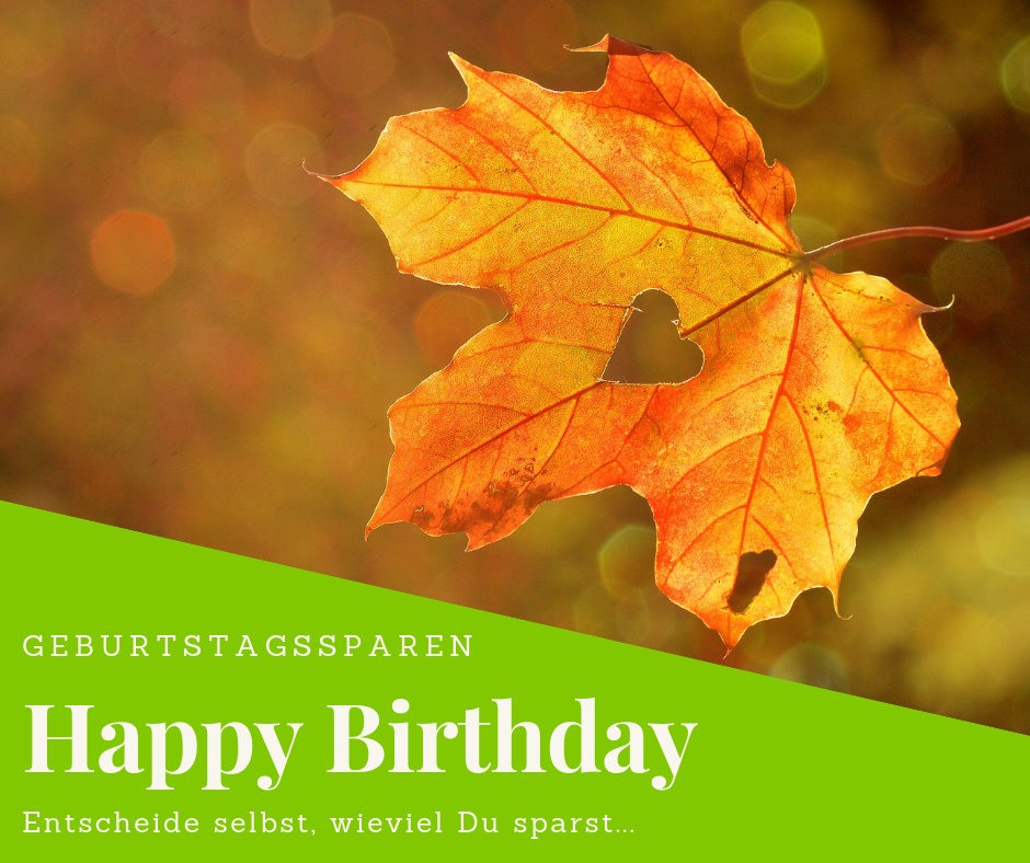 ⭐GEBURTSTAGSSPAREN - HAPPY BIRTHDAY ⭐