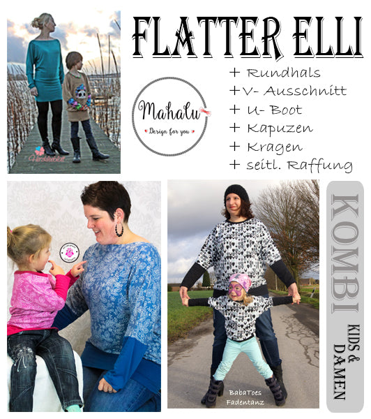 🎄 Adventskalender - Türchen Nr. 24 - Freebook - Flatter Elli 🎄