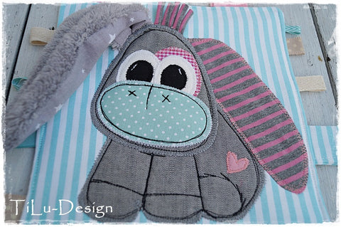 "Applikationsvorlage - ""Esel"" - Kuscheltier - Kinder - Applizieren - Applikation - TiLu Design"