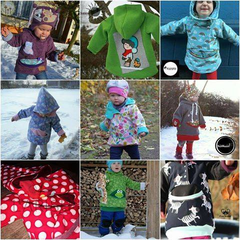 eBook - Anooorak Nelchen - Anorak - Jacke - Schlupfjacke - Nähen - Mantel - Winter - Softshell-Jacke - Kinder - Baby - Schnittmuster - From Heart to Needle - Glückpunkt.