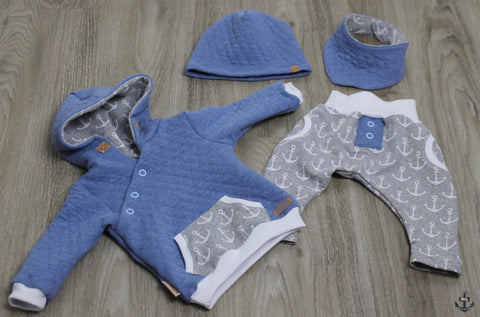 "Jersey-Stepper/Stepp-Jersey ""Little Star"", sowie French Terry ""Soft Anchor"" - Shirt - Pulli - Hose - Nähen für Kinder/Babys - eBook & Stoff - Glückpunkt."