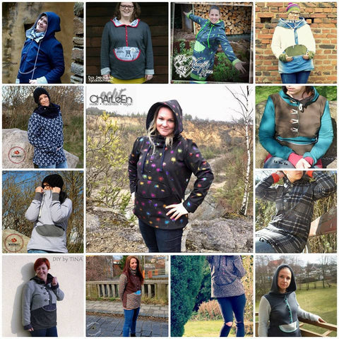 eBook - Ladys Anooorak - Anorak - Jacke - Schlupfjacke - Nähen - Mantel - Winter - Softshell-Jacke - Damen - Schnittmuster - From Heart to Needle - Glückpunkt.