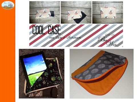 "eBook - ""Cool Case for iPad/ Ebook-Reader"" - Tasche - Caro's Nähseum - Glückpunkt"