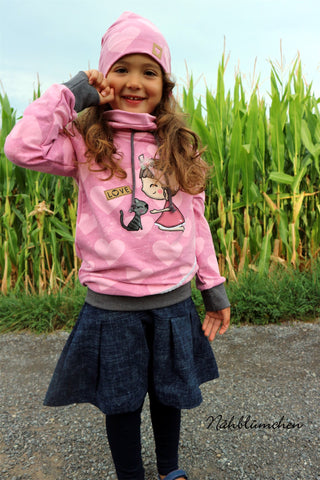 "eBook - ""Loopy & Greta"" - Pullover & Rock - Mini & Me Patterns - Glückpunkt"