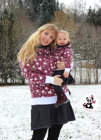 "Kombi-eBook - ""Loopy & Greta - Women & Kids"" - Pullover & Rock - Mini & Me Patterns - Glückpunkt"