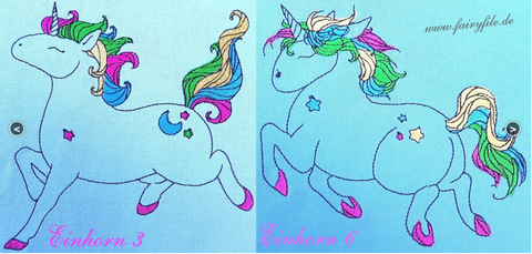 "Stickdatei - ""Einhorn Set ""Pummelcorns"""" - Fairyfile - Glückpunkt."