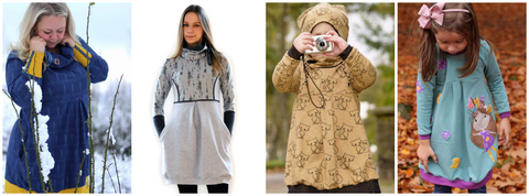 "Kombi-eBook - ""Schlotterbibber #SarasWinter"" - Kleid/Pullover - From Heart to Needle"