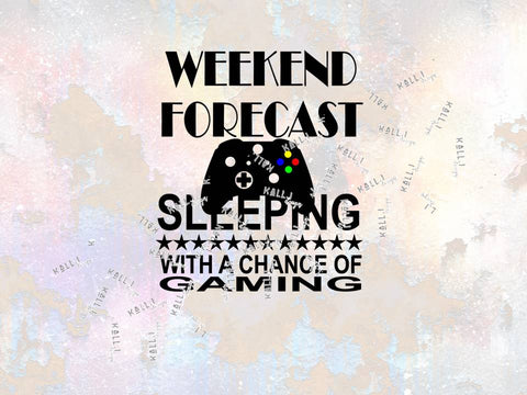 "Plotterdatei - ""Weekend Forecast gaming"" - Kall.i-Design - Glückpunkt"