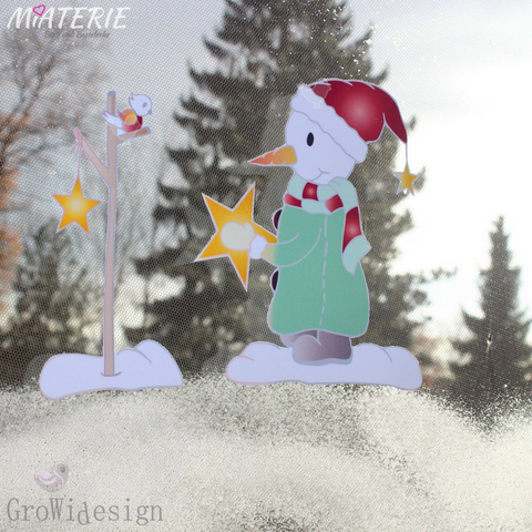 "DigiStamp - ""Snowman & little Friend"" - GroWidesign - Glückpunkt."