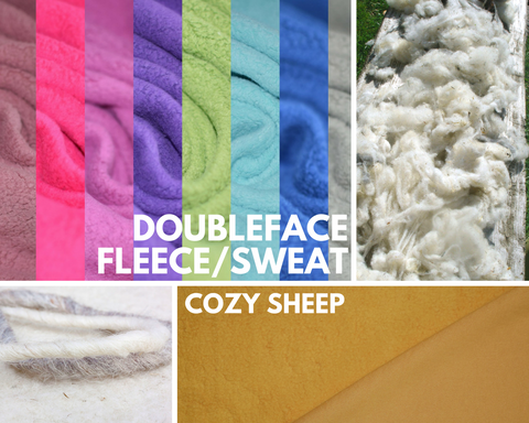 "Doubleface-Sweat/Teddy-Plüsch - ""Cozy Sheep"""