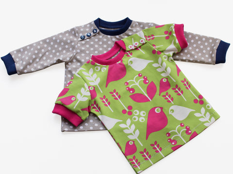 "eBook - ""Babylongsleeve / T-Shirt mit Knopfleiste"" - Konfetti Patterns - Glückpunkt."