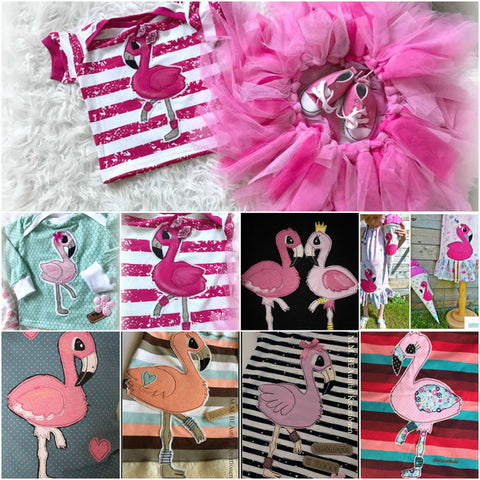Applikationsvorlage - Flamingo - Applizieren - Kinder - Baby - Tiere - TiLu Design