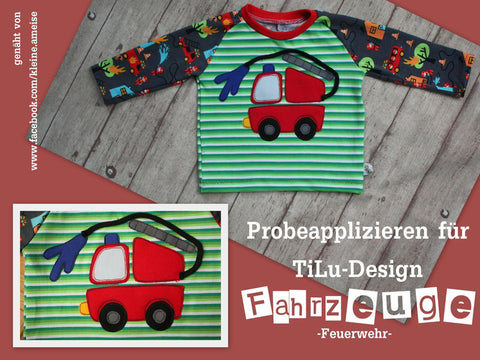 "Applikationsvorlage - ""Feuerwehr"" - Kinder - Applizieren - Applikation - TiLu Design"