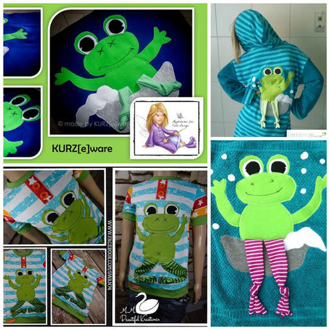 "Applikationsvorlage - ""Frosch"" - Kuscheltier - Kinder - Applizieren - Applikation - TiLu Design"
