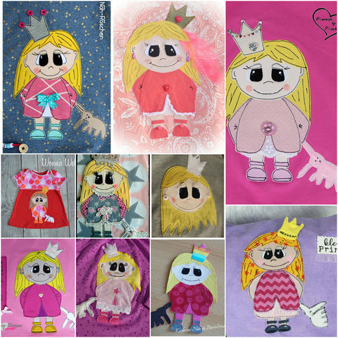 "Applikationsvorlage - ""Prinzessin"" - Kinder - Applizieren - Applikation - TiLu Design"