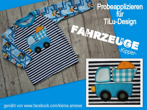 "Applikationsvorlage - ""Kipper"" - Kipplaster - Lastwagen - Applizieren - Applikation - TiLu Design"