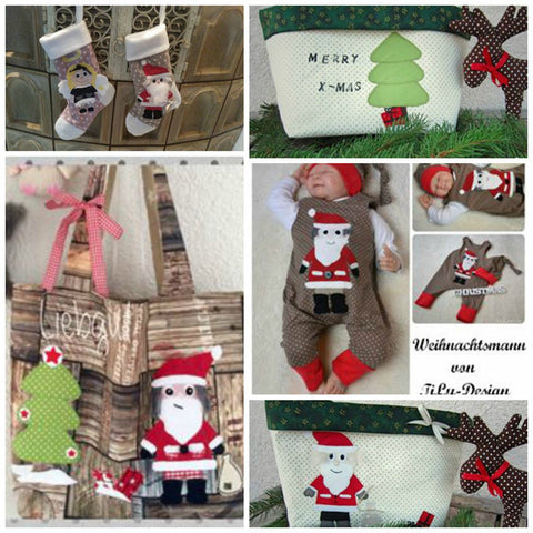 "Applikationsvorlage - ""Weihnachtsmann"" - Nikolaus -  Santa Claus - Kinder - Applizieren - Applikation - TiLu Design"