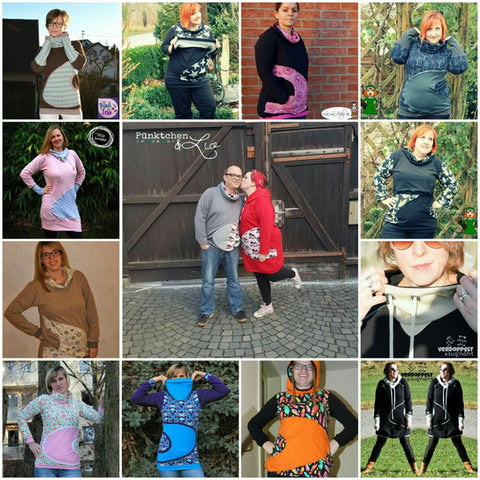 eBook - Herzensbrecher - Hoodie - Longpulli - Long-Pulli - Still-Pulli - Still-Shirt - From Heart to Needle - Glückpunkt.