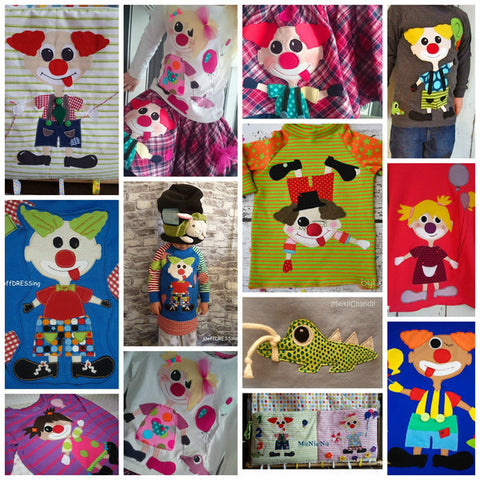 "Applikationsvorlage - ""Clown"" - Zirkus - Kinder - Applizieren - Applikation - TiLu Design"