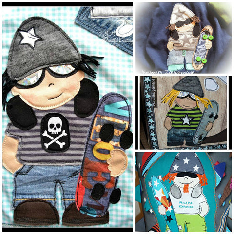 "Applikationsvorlage - ""Skater"" - Skateboarder - Skate - cool - Kinder - Applizieren - Applikation - TiLu Design"