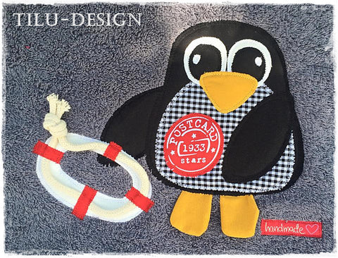 "Applikationsvorlage - ""Pinguin"" - Kinder - Applizieren - Applikation - TiLu Design"