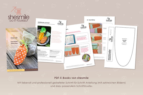 "Freebook - ""Stoffsäckchen - Karotte"" - Shesmile, Do it yourself - Glückpunkt."